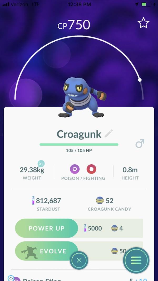 Pokemon GO Croagunk