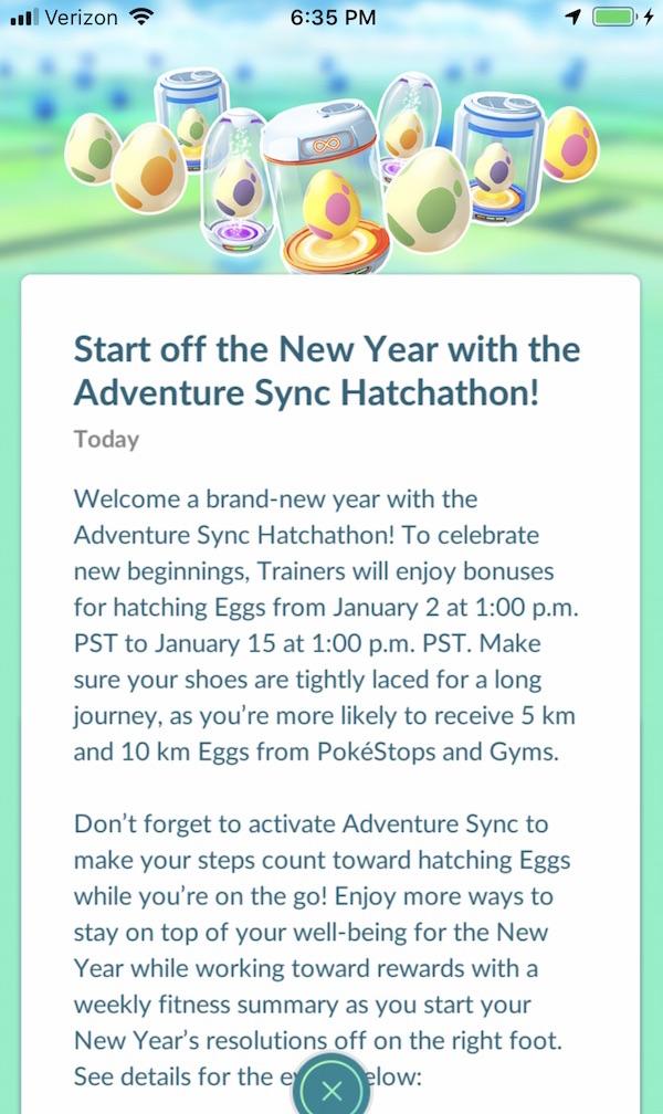 Pokemon GO New Year Hatchathon
