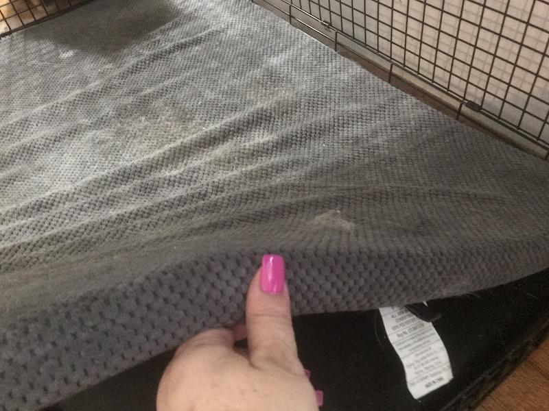 mat in crate