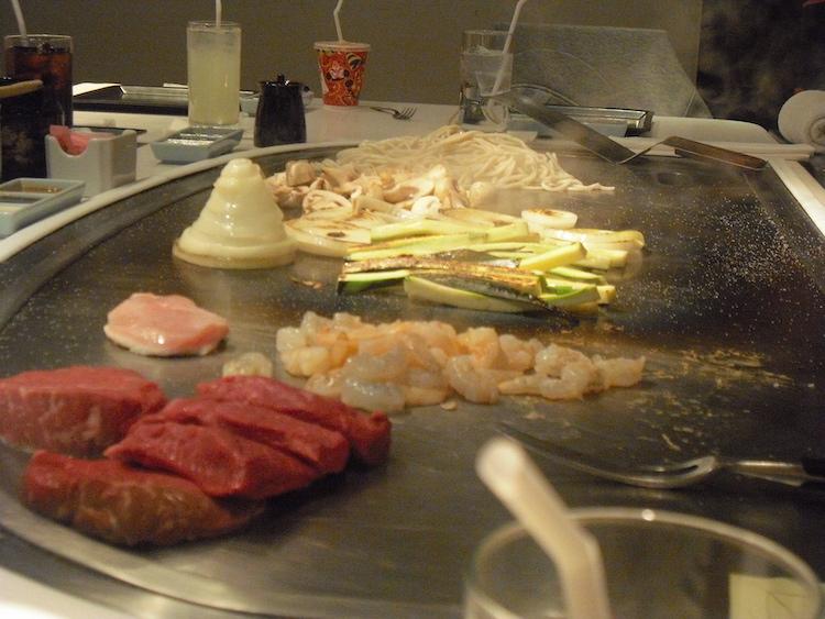 Dining At Disney World - hibachi