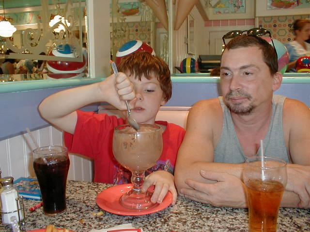 Dining At Disney World - ice cream
